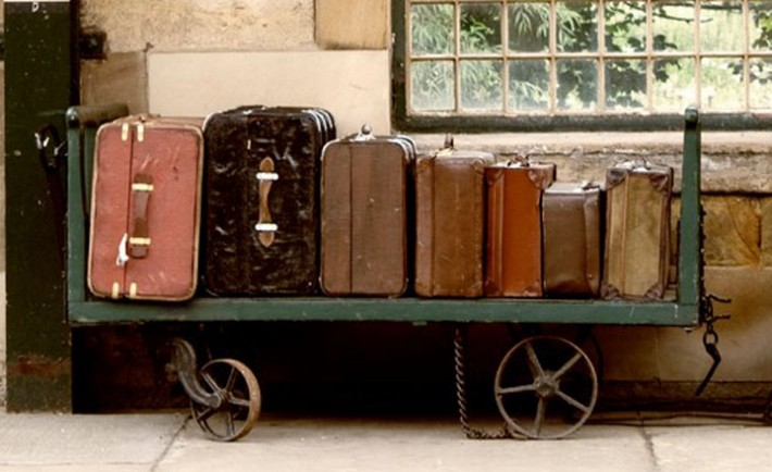 Suitcases On A Luggage Trolley In A Train Station, Image: 29351544, License: Royalty-free, Restrictions: , Model Release: no, Credit line: Profimedia, Designpics