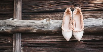 Pair of pumps on wood, Image: 320768510, License: Royalty-free, Restrictions: , Model Release: no, Credit line: Profimedia, Westend61